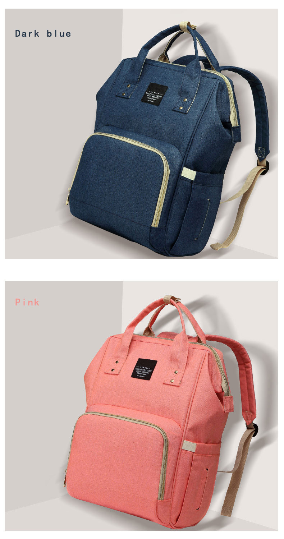 Hefa05b36d4c54fe49d1b82b77b34d1a5B Fashion Mummy Maternity Nappy Bag Waterproof Diaper Bag With USB Stroller Travel Backpack Multi-pocket Nursing Bag for Baby Care
