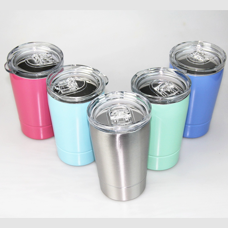 12 Oz Rodless Coffee Cup Wine Glass Portable Vacuum Insulated Milk Coffee Cup With Lid And Straw Stainless Steel Travel Mug