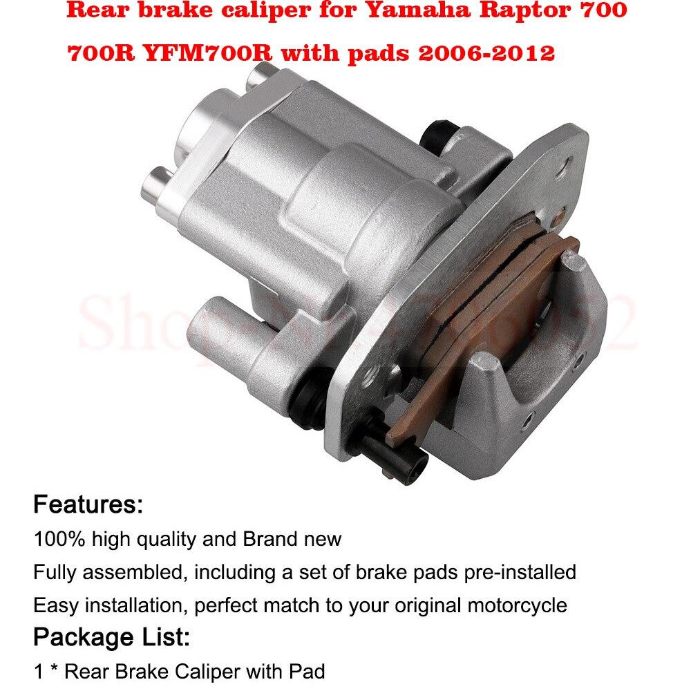 Rear Brake Caliper For Yamaha Raptor 700 700R YFM700R With Pads 2006-2012