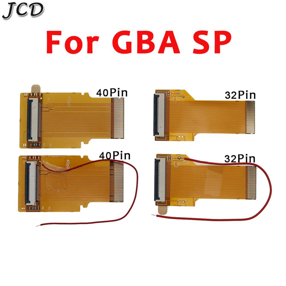 JCD For Gameboy advance SP Ribbon Flex cable AGS 101 backlit adapter 32 40 pin with/without cable For Nintendo GBA SP