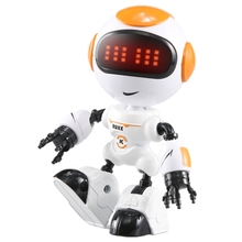 Kids Touch Control Mini Robot LED Eyes Voice DIY Body Gesture Educational Toys 203E