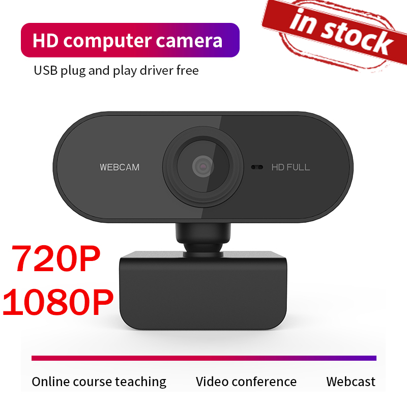 1080P 720p Webcam HD Camera Web Cam Auto Focus Built-in Microphone For Computer PC Laptop Tab Conference Webcast Drop Ship