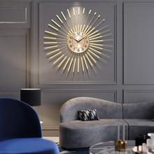 Salon lumière de luxe fer horloge murale maison créative personnalité art mode européenne horloge tenture murale restaurant décoration