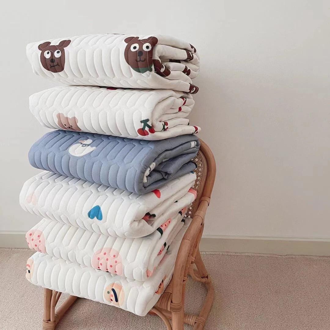 Korean baby bed sheet game blanket summer children latex cool mats girl heart cute kids boy cool feeling ice silk mat sheets