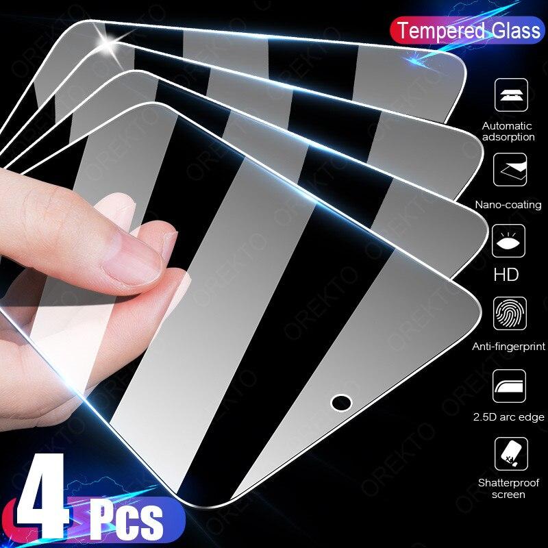 4 шт. закаленное стекло для Samsung Galaxy A51 A50 A71 A70 A52 A72 A80 A40 A60 S, Защита экрана для Samsung A31 A01 A20E M51, стекло