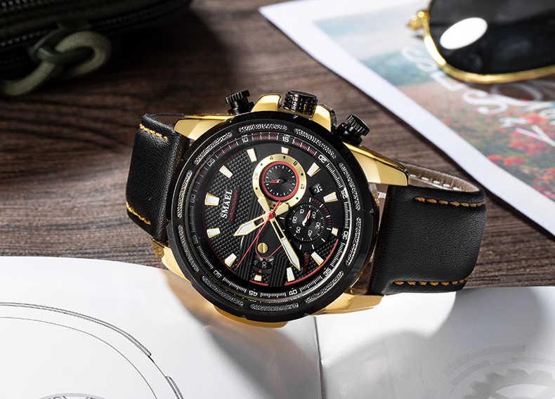 24 SMAEL Esporte Dos Homens de Moda Homens Relógio Analógico hour Data Multifunction Militar Relógios De Pulso Homem Relógio de Quartzo Relógios À Prova D' Água