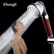 цены Zhang Ji 30% Watersaving High Pressure Handheld Shower Head 3 Modes Bathroom ABS Showerhead Adjustable Round Shower Nozzle ZJ094