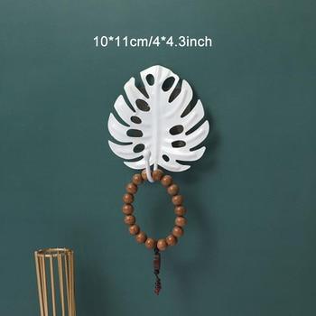 Leaves Shape Iron Hook Nordic Wall Decoration Leaf Key Watch Bags Jewelry Haning Hook Mutifuctional Wall Hanger Rack 11