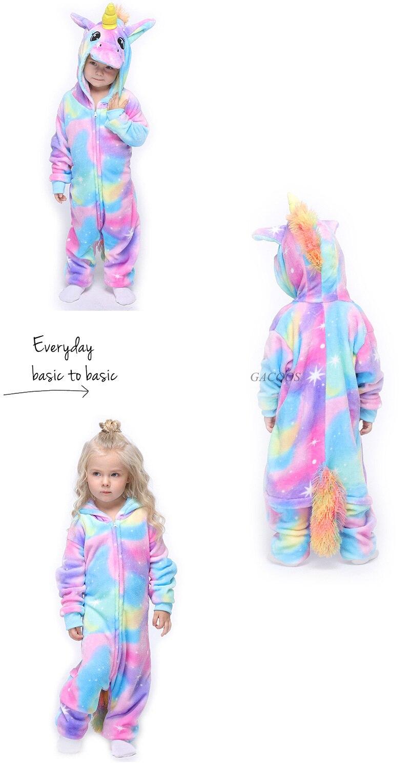 Macacão infantil de flanela para meninos, pijama