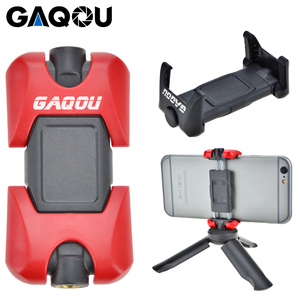 Image 1 - GAQOU Universal Tripod Mount Stand Adapter for Mobile Phone Holder Mini Cell Phone Clipper for iPhone Samsung Smartphone Bracket