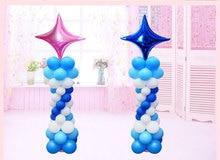 10 18 inches, 24 inches four star aluminium film balloons KTV bar mall setting wall decorations aluminum foil balloons iwona 24 inches