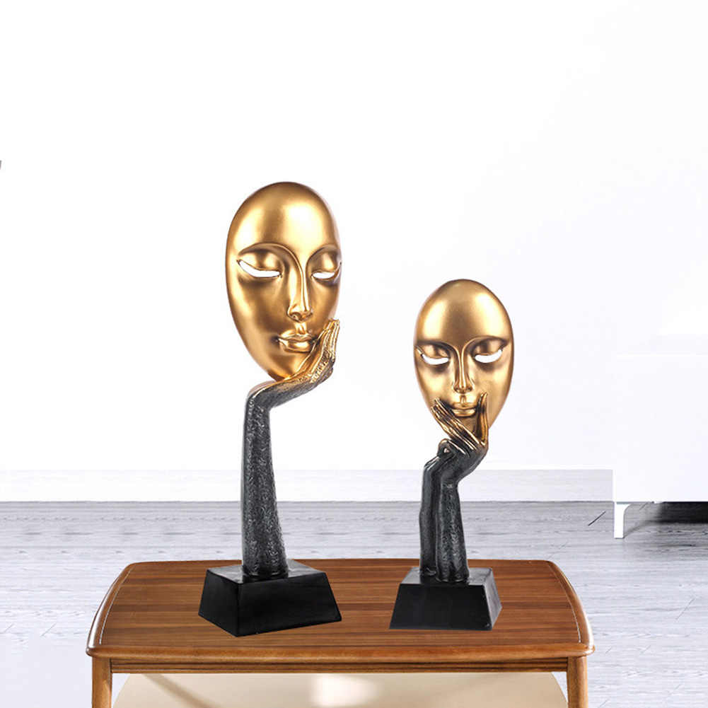 Home Statue Abstract Human Face Model Sculpture Modern Art Living Room buda Hallway Cabinet Decor Home Decoration Accessories