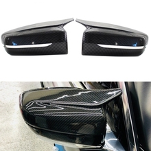 for -BMW 3 5 7 Series G20 G30 G11 G12 Carbon Fiber Pattern ABS Side Rear View Mirror Cap Cover Shell Trim