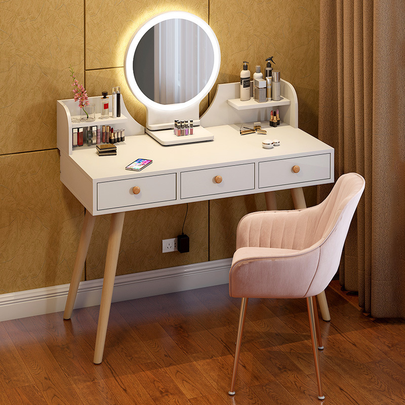 60cm criativo atividade espelho mobiliário quarto penteadeira mestre simples mesa de maquiagem nordic ins vento pequena mesa de armazenamento