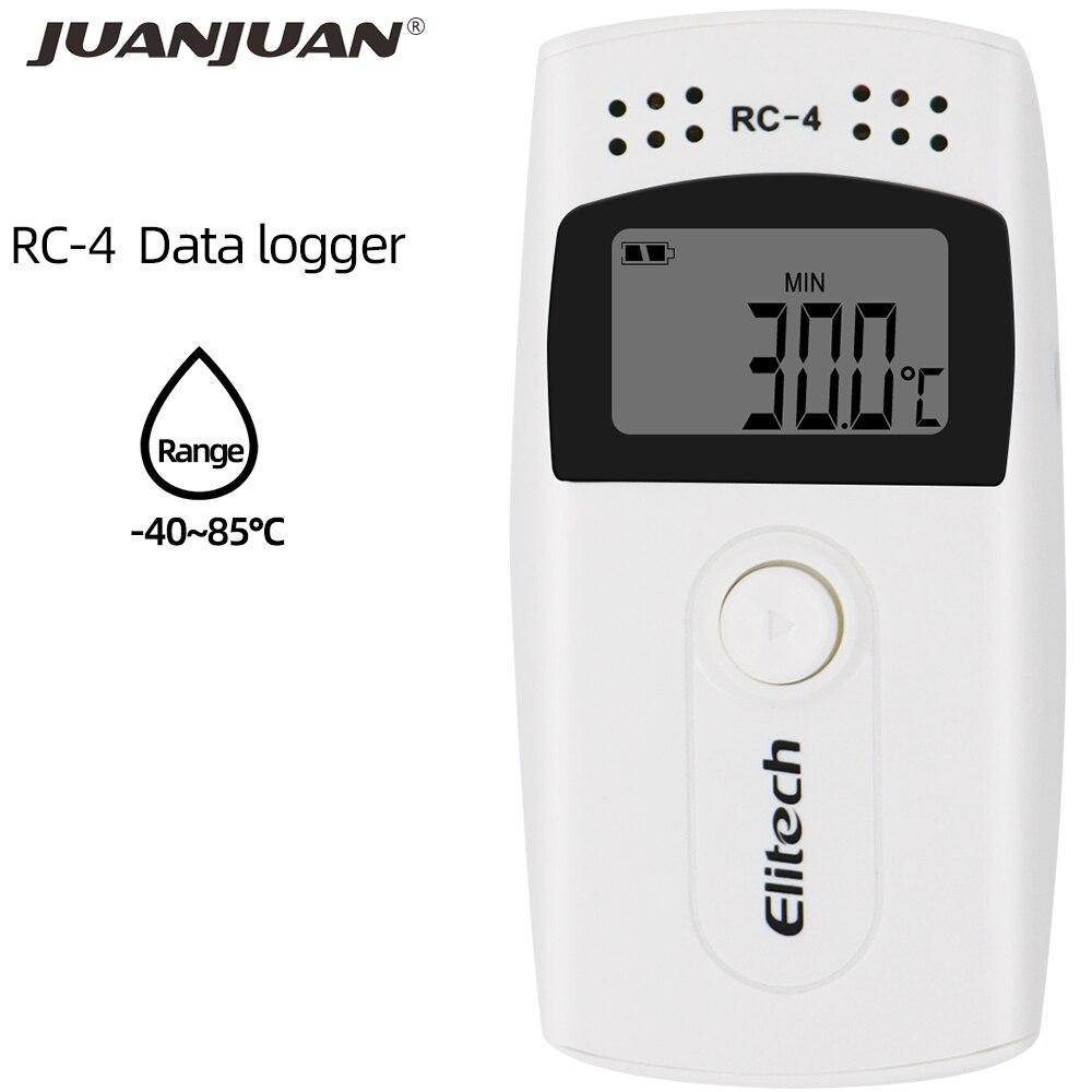 RC-4 usb temperatura registrador de dados datalogger registrador externo sensor 16000 ponto para armazém armazenamento laboratório 30% de desconto