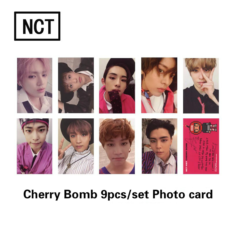 9pcs/set NCT 127 HD Photocard Cherry Bomb Album Good Quality NCT Dream Album Photo Card NCT126 Supplies Fashion New Arrivals