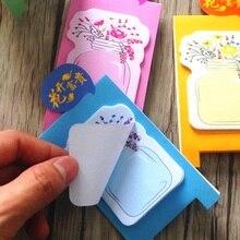 1 pack/lote flor Memo Pad notas adhesivas para muchas ocasiones pegajoso diario Vintage papelería Scrapbook