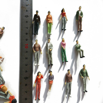30pcs Train Scene Layout Passenger People Figures Painted Model 1:43 O Scale 100pcs 1 100 scale model color figures toys miniature architecture painted people for diorama garden street scene layout kits