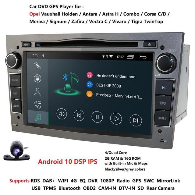 Hizpo Quad Core 2 DIN pamięci RAM:2GB Android 10.0 samochodowy odtwarzacz DVD odtwarzacz dla Opel Astra H Vectra Corsa Zafira B C G samochód GPS Radio stereo 4GWIFI