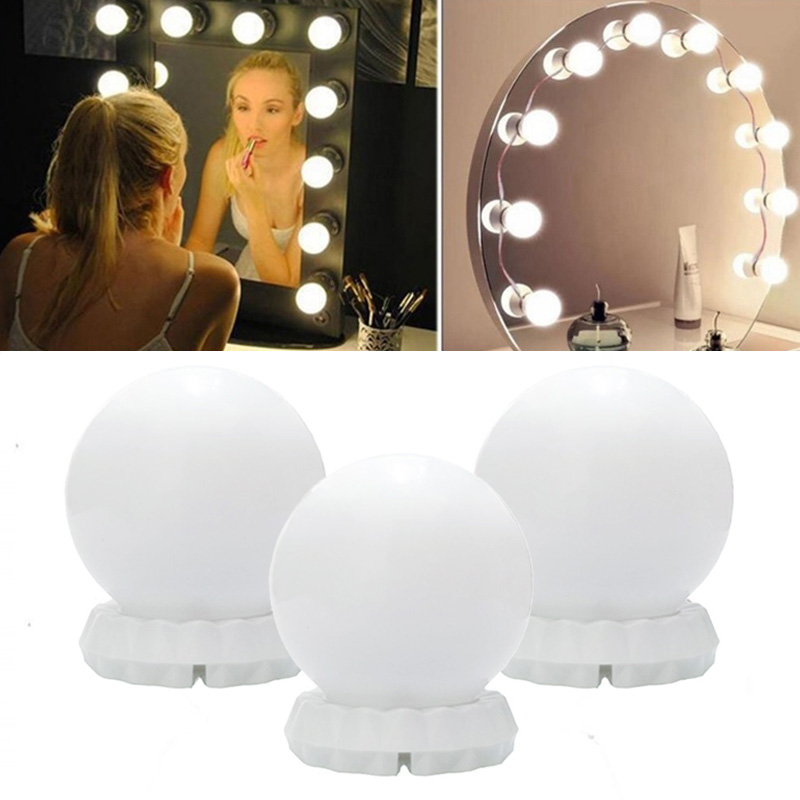Dimmable Cosmetic Lamp 5V/USB Light Bulbs Luminous Dressing Table Bathroom Mirror Makeup Lights 3 Color 10W USB Charging