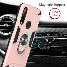 Luxury Back Case For OPPO F11 Pro A9 F9 A3S A5 A1K A7 A5S A37 Realmi 3 5 Pro 3i X2 Stand Car Ring Adsorption Phone Cover V03D(China)