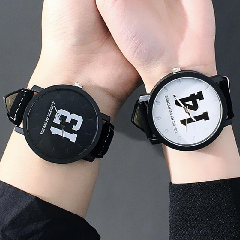 Creative Watches Couple Gifts Women/men Strap Wrist Fashion Korea Quartz for Relogio