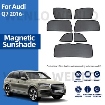 Dla Audi Q7 4M 2016-2021 magnetyczny samochód osłona przeciwsłoneczna szyby bocznej osłona przeciwsłoneczna osłona przeciwsłoneczna tanie i dobre opinie wenlo z włókien syntetycznych CN (pochodzenie) Zwykłe Side Window Shades Customized Car Window Sun Shade Black Nylon Fiber Mesh