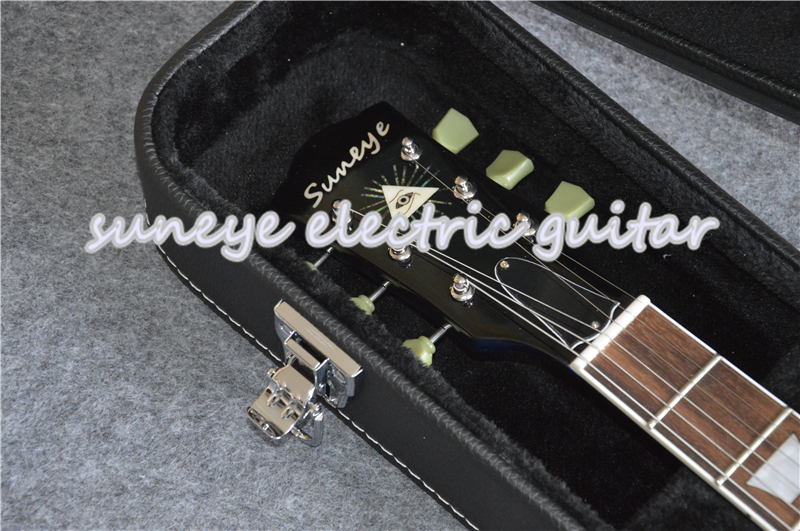 Suneye Blue Purple Custom Electric Guitar Mahogany Guitar Body Standard Guitarra With Guitar Case In Stock in Guitar from Sports Entertainment