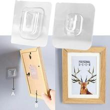 20/12pairs Double-sided Adhesive Wall Painting Hooks Patch panel Cable Organizer Wire Winder Holder Mouse Cord Clip Protector