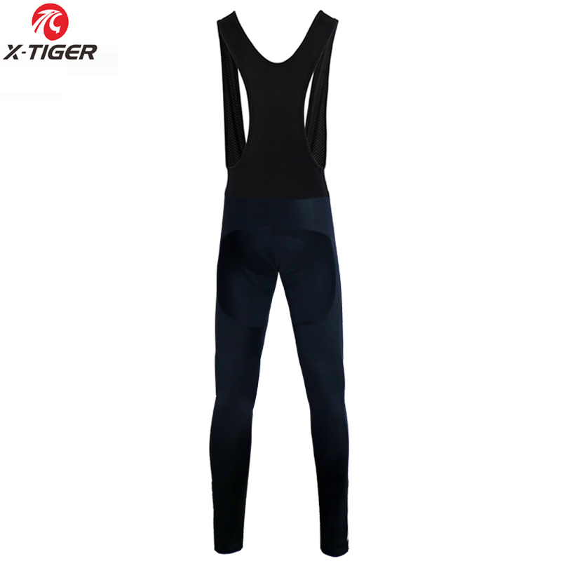 X-Tiger Winter Cycling Thermal Bib Pants With 3D Gel Pad Bicycle Quick-Dry Cycling Pants Keep Warm Whole Black MTB Bike Trousers 1