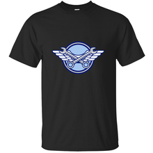 O Neck Crossed Spanner Air Force Wings Icon T Shirt Man Leisure Sunlight Mens T Shirt Casual Hiphop Top 100% Cotton(China)