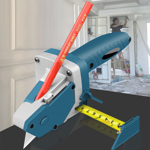 Plasterboard Edger Gypsum Board Cutting Artifact Cutter Tool Kit Scriber Drywall Artifact with Scale