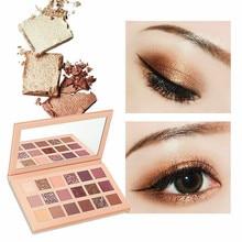 Eyeshadow Palette Metallic Nude Shining Glitter Shadow Easy To Wear Make Up 18 Color Lasting-Effect Eye