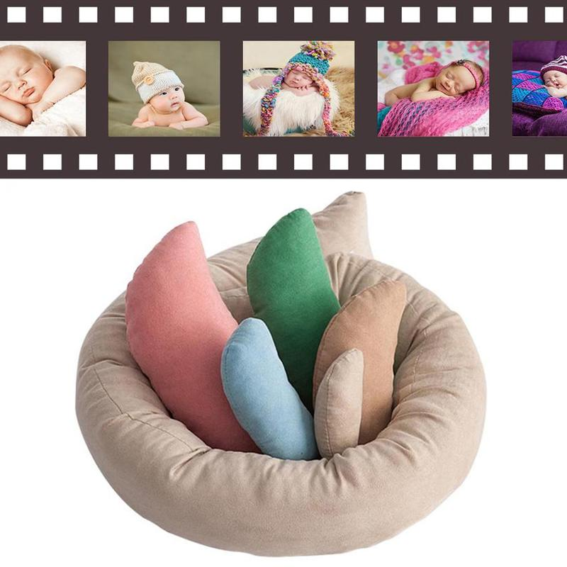 1 Set Fashion Newborn Posing Beans Bag Cotton Blend Baby Photography Auxiliary Prop Pillow Baby Pillow Newborn Positioner Props