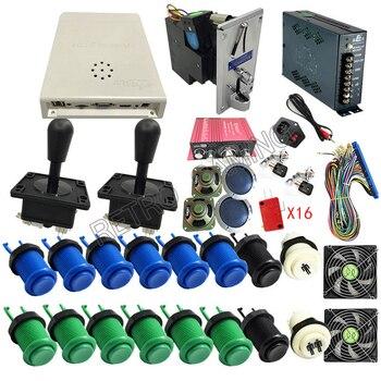 Caja de juegos recreativos, accesorio, tablero Jamma 2600 en 1, conjunto DIY, conjunto de Happ, botón pulsador, Joystick, conjunto armario Diy videojuegos