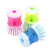 Kitchen Tool Pot Brush Scrubber Cleaner Pot Brush Automatic Liquid Adding Brush