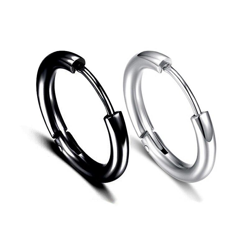 Мужские круглые серьги-кольца Charmsmic, 10 мм 12 мм, женские серьги для пирсинга тела, серьги-кольца в стиле хип-хоп, корейский стиль, ювелирные изд...