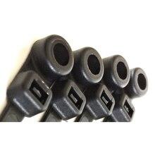 100 шт. УФ черный пластик самоблокирующийся кабель стяжка на молнии обертывания Храповые стяжки провода черный