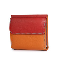 Mini Womens Wallets Luxury Short Genuine Leather Female Purses Small Purse ID Card Holder Ladies Colorful Money Bags