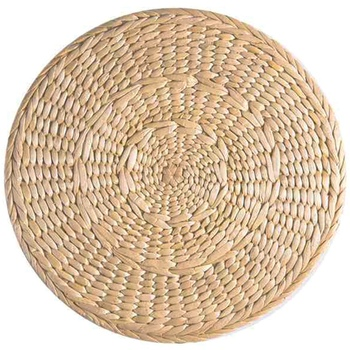 4 Pcs Natural Weave Placemats Round Braided Rattan Tablemats For Coasters, Pots, Pans&Teapots,Natural Wooden Heat Resistant Mat фото