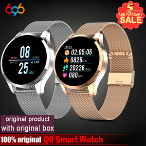 Bluetooth Q9 Smart Watch Waterproof Message call reminder Smartwatch men Heart Rate monitor Fitness Tracker Android IOS Phone(China)