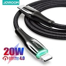 "Joyroom 60W פ""ד USB סוג C כבל עבור iPhone 12 11 פרו Xs מקסימום מהיר טעינת מטען עבור MacBook iPad סוג C USBC נתונים חוט כבל"