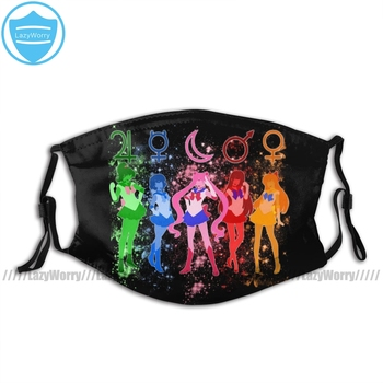 Sailor Moon Mouth Face Mask The Inner Senshi Facial Kawai Funny for Adult with Filters