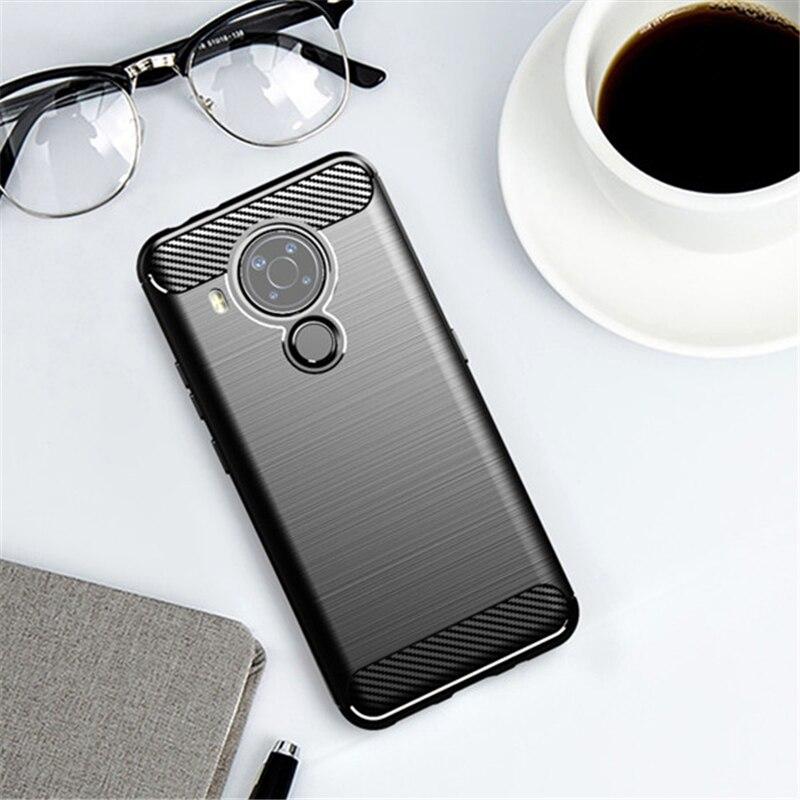Für Nokia 5,4 Fall Gummi Auto Weichen Silicon Carbon Faser Abdeckung Für Nokia 5,4 3,4 2,4 8,3 5,3 1,3 Telefon fall Für Nokia 5,4 Fall