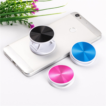 Colorful mobile phone round bracket design lazy finger folding handle for all phones