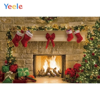 Christmas Backdrop Fireplace Tree Winter Window Baby Portrait Photography Background For Photo Studio Photophone Photozone Prop цена 2017