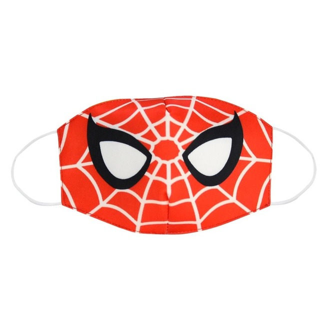 2020 Spiderman Stop Air Pollution Home Cartoon Lovely Cotton Masks Keep Warm Mouth Respirator Kids Adult 1