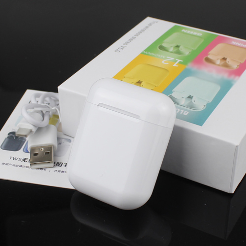 2020 TWS I12 Bluetooth Earphones Headset Mini True Wireless Earbud Headset For Apple Headphones Charging BoX