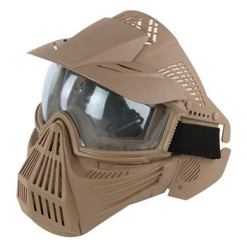 airsoft paintball mask safety protective anti fog goggle full face mask with black yellow clean lens tactical shooting equipment TF Full Face Paintball Mask Lens Goggle Tactical Mask Military Army Wargame Shooting Hunting Equipment Protective Airsoft Masks