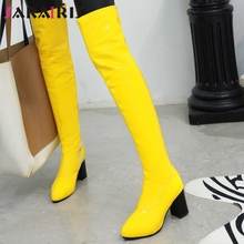 SARAIRIS Hot Sale 34-48 Bright Color Over The Knee Boots Ladies Fashion Thigh High Boots Women 2019 High Heels Shoes Woman цена 2017